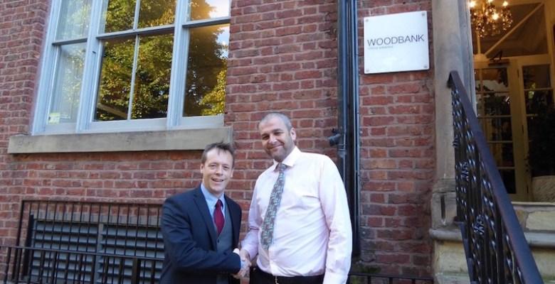 Konica Minolta Gary Kendrick with Woodbank's Service Director Jason Morris