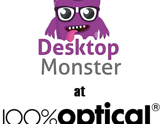 Desktop Monster at 100% Optical trade show