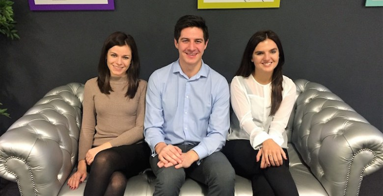 Helen, David and Hannah newly qualified at Clarke Nicklin