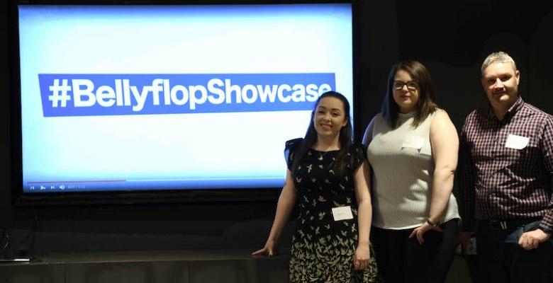 Sammi and Carol from Bellyflop TV showcase event