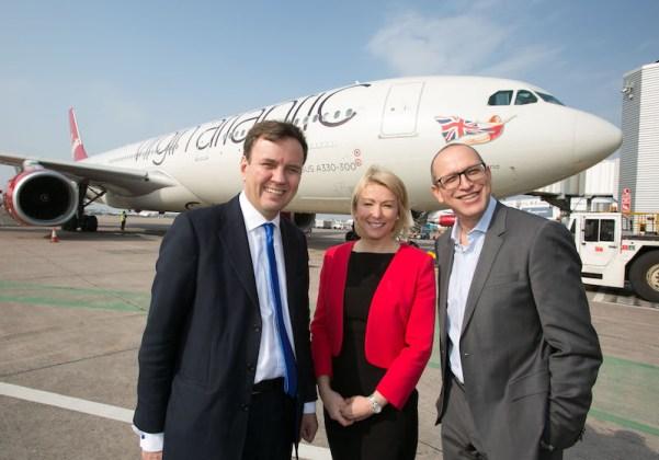 rt Hon Greg Hands MP at Manchester Airport