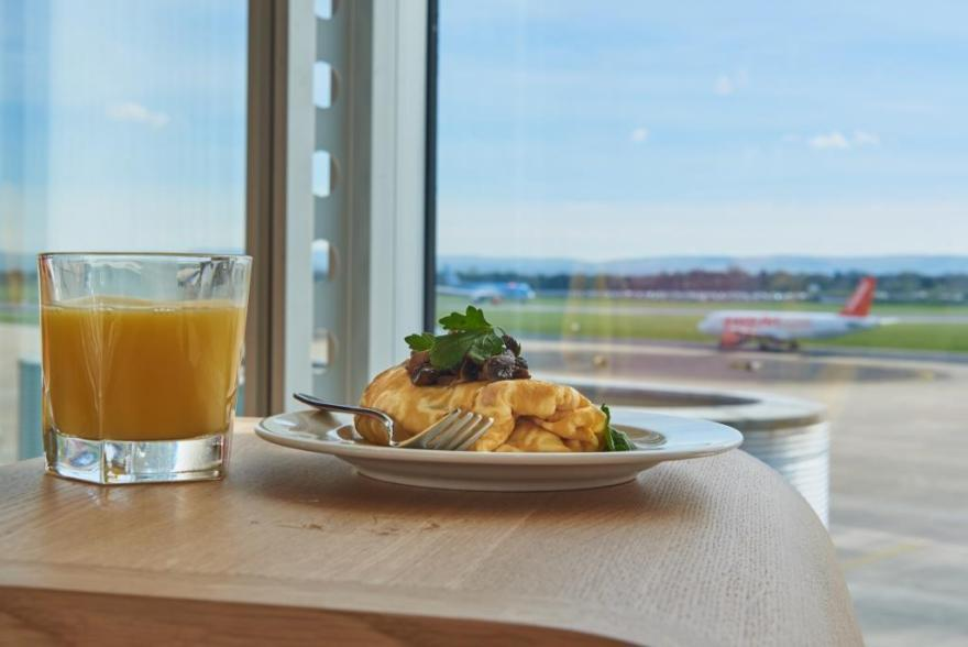 View from 1903 lounge at Manchester Airport's T3