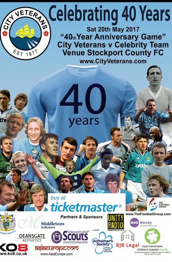 City Veterans celebrating 40 years at Stockport County
