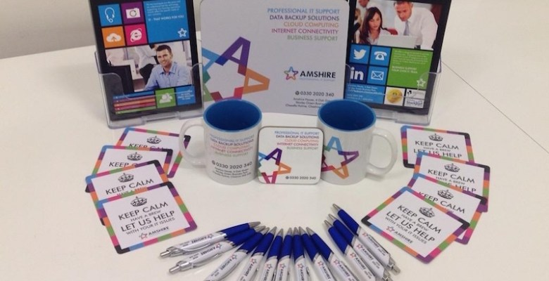 Aqua Design designed merchandise for Amshire IT