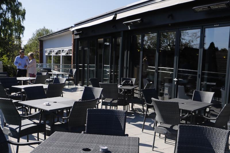 The new balcony at Bramall Park Golf Club