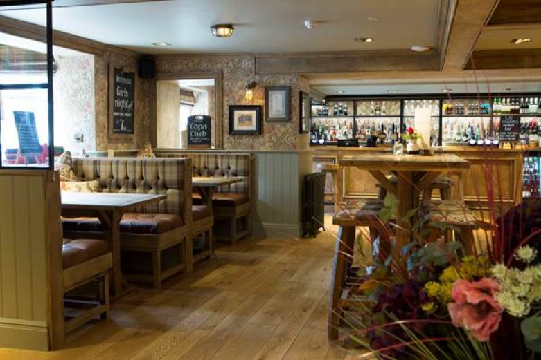 Interior of the newly refurbished Devonshire Arms in Mellor