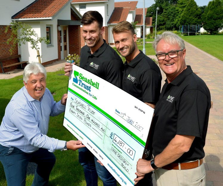 Lyme Design and Build's golf day tees up £4,000 donation to Seashell Trust