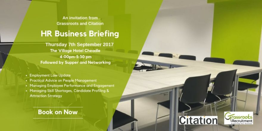 Grassroots Stockport Citation Business Briefing event