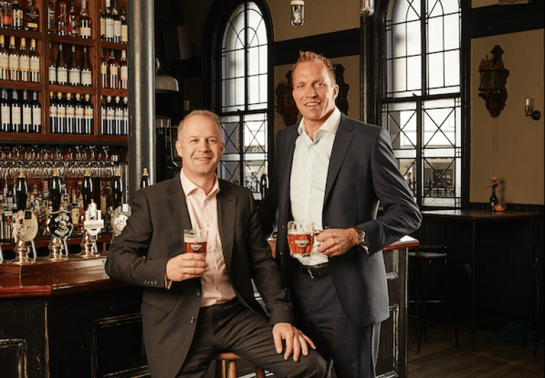 Robinsons celebrate growth - pictured are William Robinson MD Pub Division & Oliver Robinson MD Beer Division
