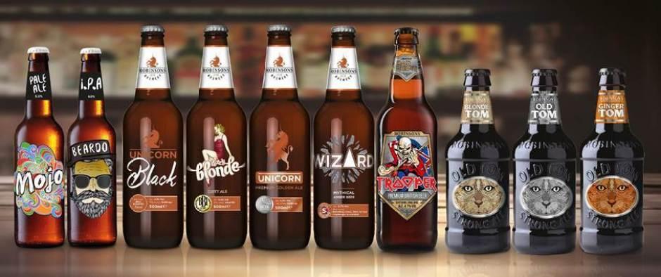 Robinsons award winning bottled ales