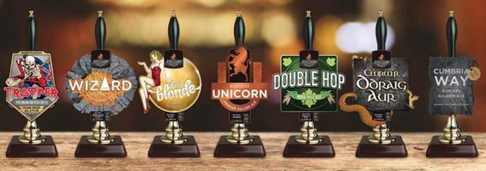 Core selection of Robinsons' tasty draught beers