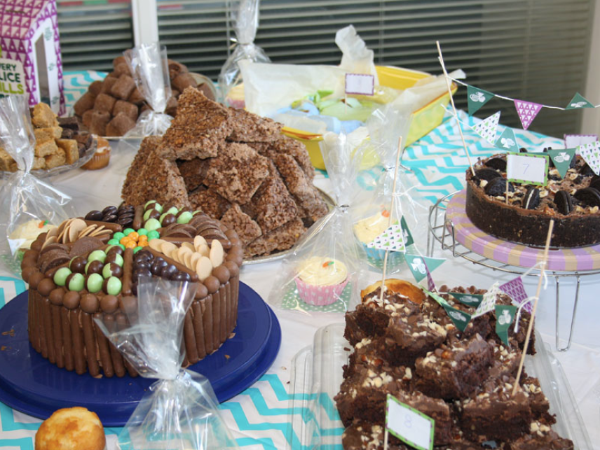 A fabulous display of cakes at the Midshire Macmillan bake off