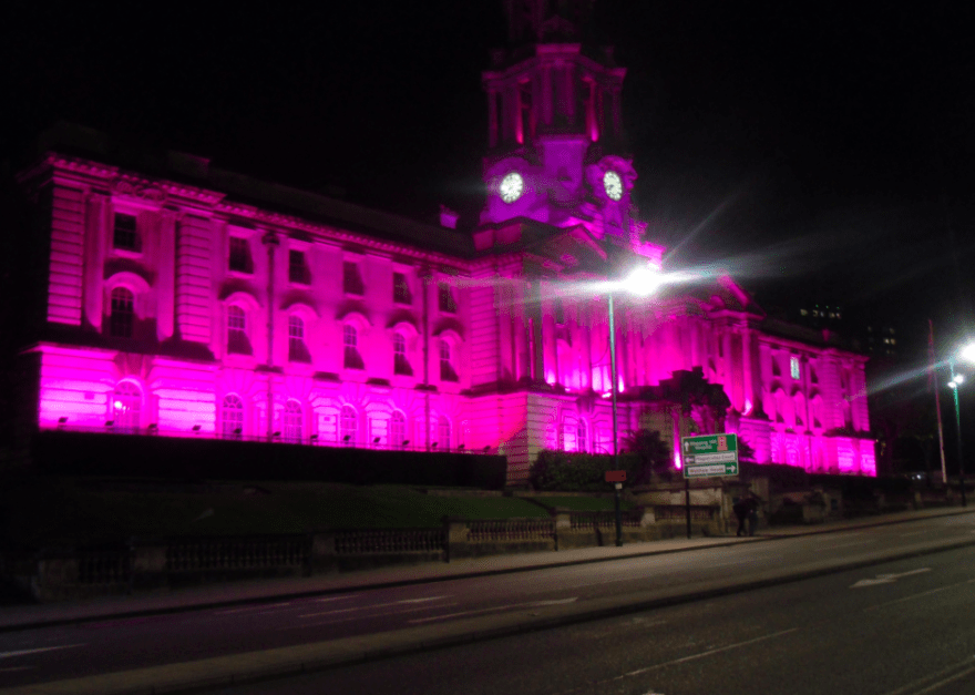 Stockport turns pink for Beast Cancer Awareness month