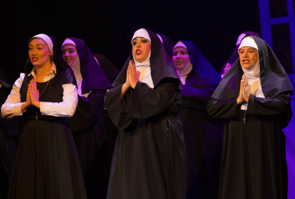 Helen Provart - right - the perfect Sister Mary in Sister Act