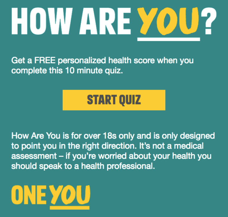 The One You Health quiz https://www.nhs.uk/oneyou/how-are-you will help you to identify where the most change is needed