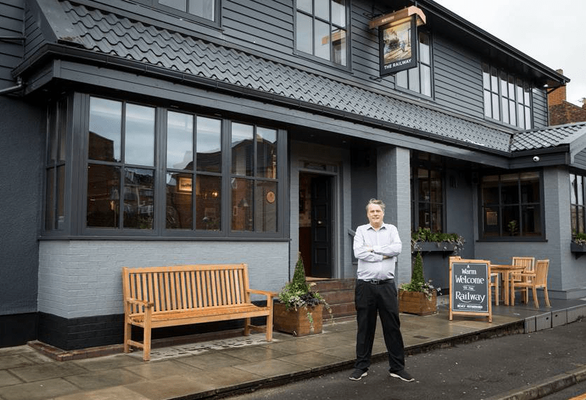 David Biss of the Railway in Sale that has re-opened after refurbishment