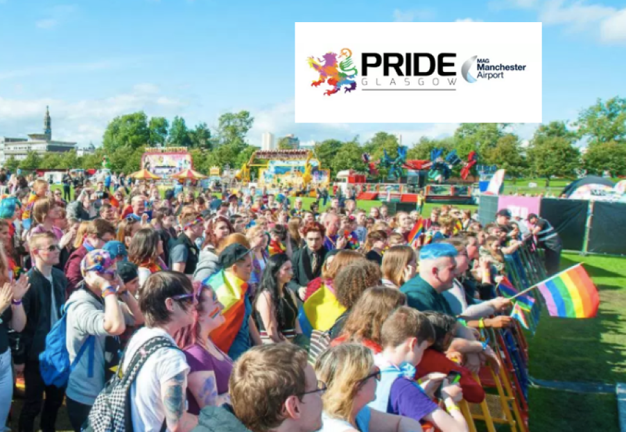 Manchester Airport headline sponsors at Sottish Pride at Edinburgh and Glasgow