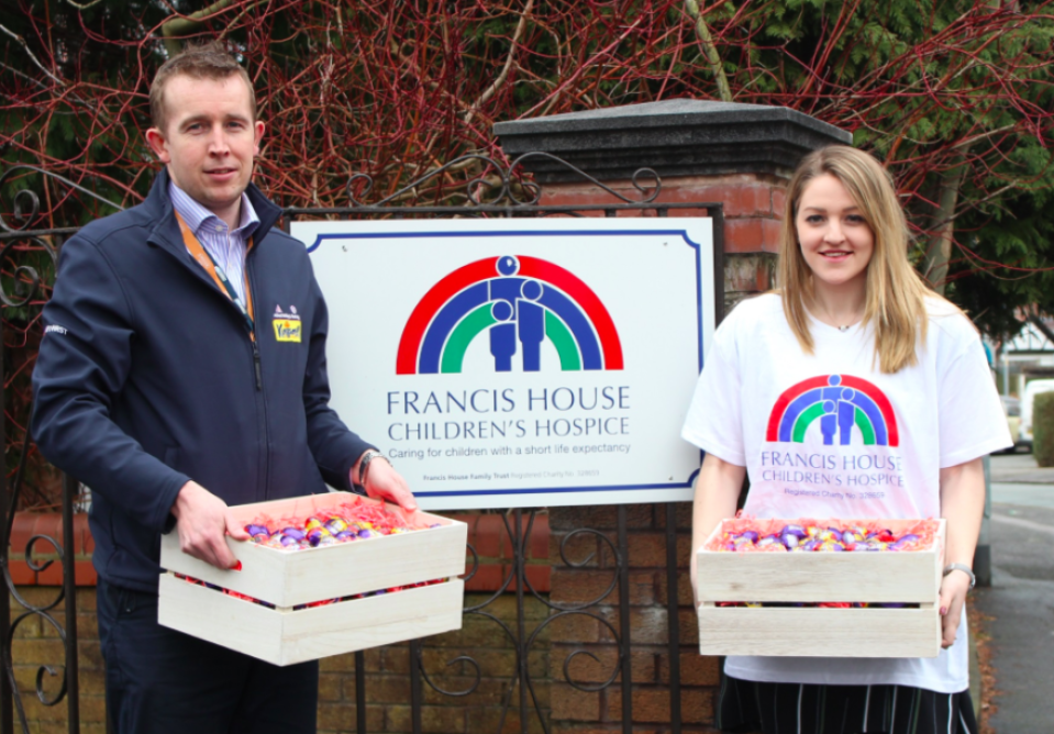 Allied Bakeries delivered 600 eggs for Frances House Chick knits