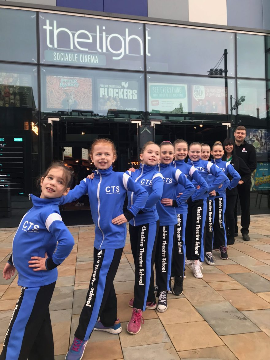 Cheshire Theatre School dancers at The Light Cinema, Stockport.