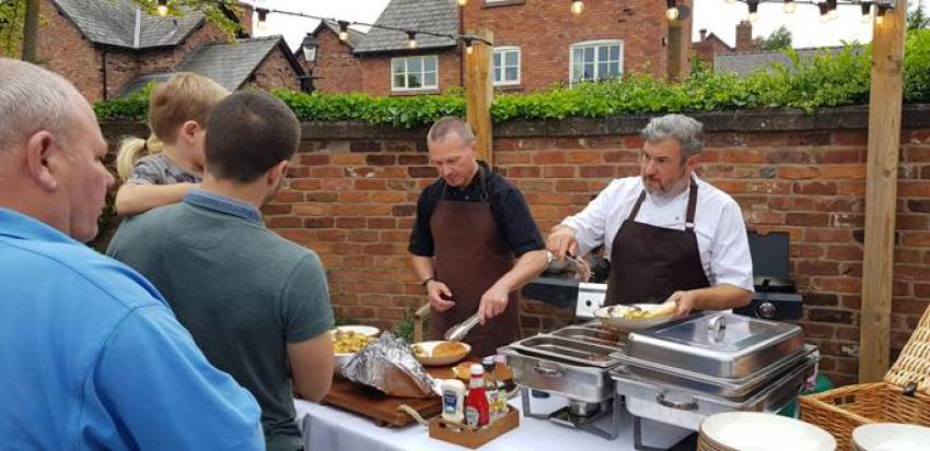 Robinsons team took over The Rising Sun in Tarporley hosted Help for Heroes BBQ