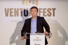 Andy Burnham at last year's Venturefest North West