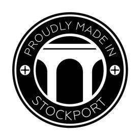Made in Stockport badge available free of charge