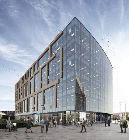 Artist's impression of how 2 Stockport Exchange will look once completed