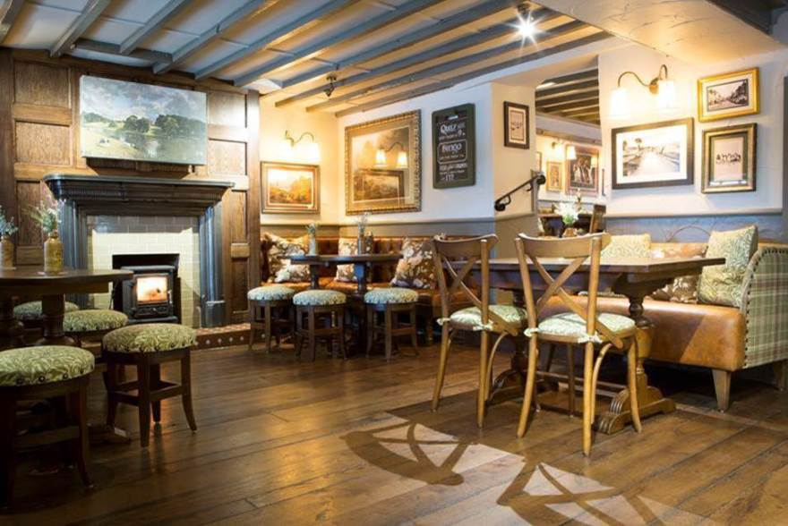 Interior of the newly refurbished Crown Inn