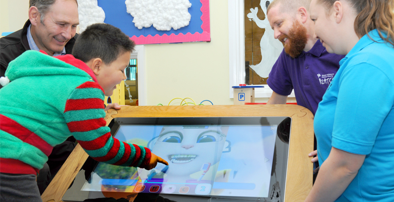 Midshire are supporting Latch Children's Cancer Charity with touch-screen technology