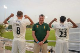 C&C shirt sponsor at Lancashire County Cricket