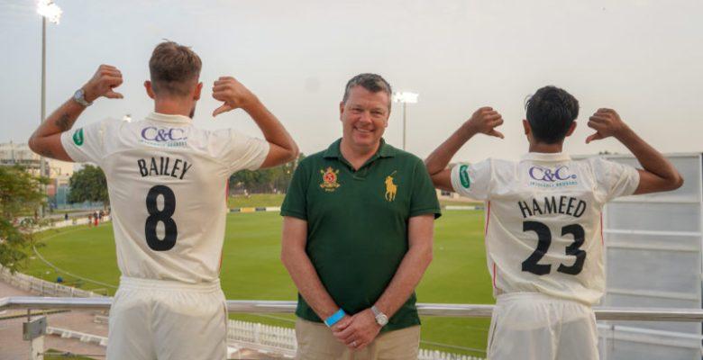C&C shirt sponsor at Lancashire County Cricket