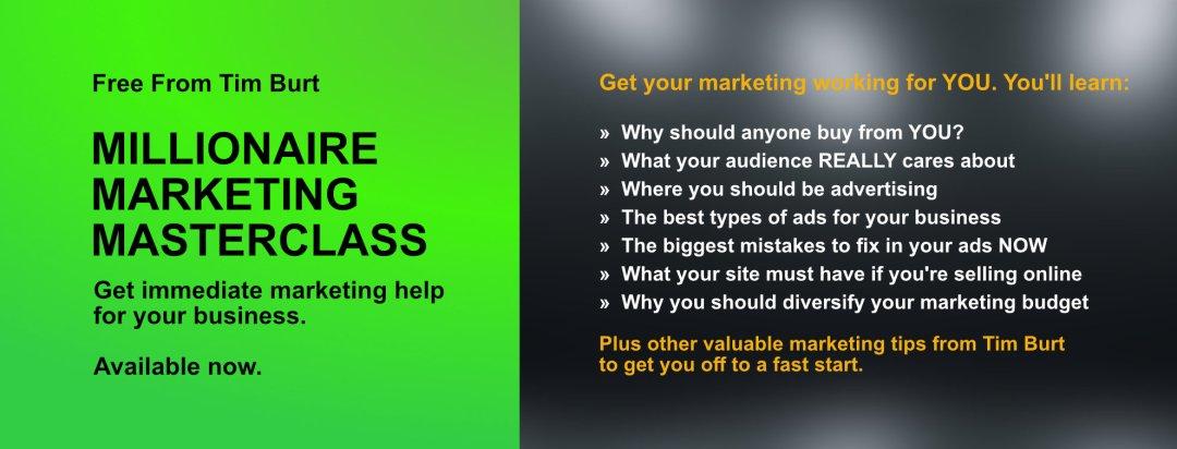 Tim Burt marketing master class
