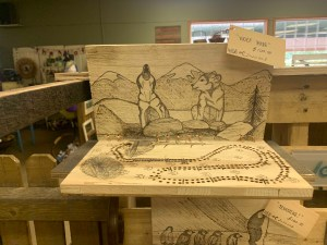 Market Junction and the Cozy Cup Cafe Antique and Artisan Market Cremona Alberta Wolf Dog Studios Handcrafted Cribbage Boards Explore Alberta Tourism