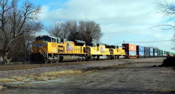A Union Pacific Container Train.