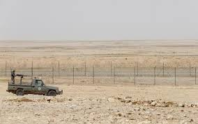 The Saudi Border with Iraq soon to be the front line of the ISIS war.
