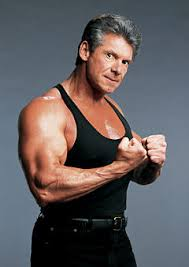 Not your average digital media tycoon. Vince McMahon flexes his muscle for fans.
