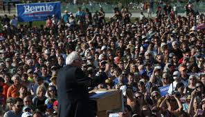 The crowds are coming out for Bernie.