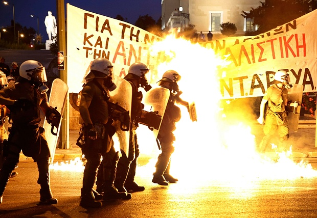 Battles between police and rioters are now a daily occurrence in Greece.