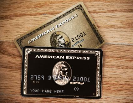 The ultimate icons of American capitalism the vaunted Amex black and gold cards.