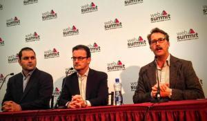 The men trying to make Hyperloop a reality: Shervin Pishevar, Rob Lloyd and Brogan Brogran.