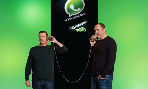 The men behind WhatsApp, Brian Acton and Jan Koum.