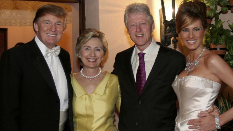 Bill and Hillary at Donald Trump's last wedding in 2005. Notice everybody looks happy.