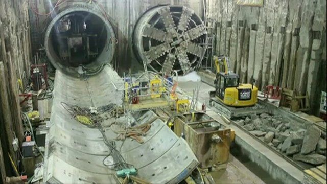 Crossrail tunnel under London.