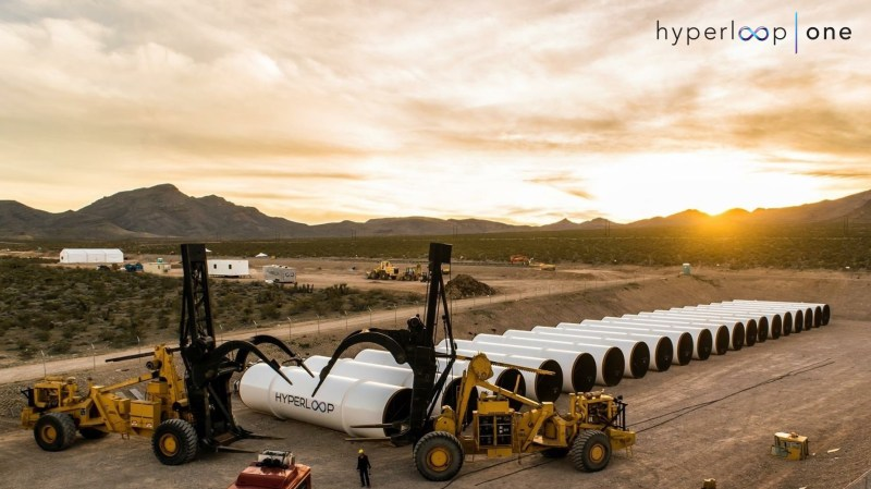 Tech startup Hyperloop One is trying to build a new mode of transportation that would involve pods moving at very high speeds through a tube.