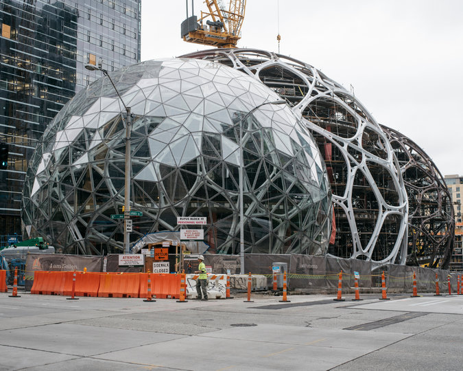 Amazon's new headquarters in Seattle.