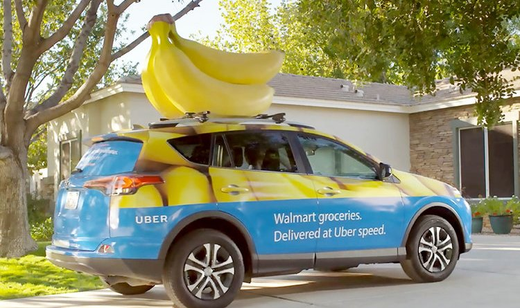 Walmart's Uber and Lyft delivery.