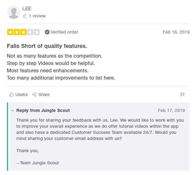 Negative Jungle Scout Review