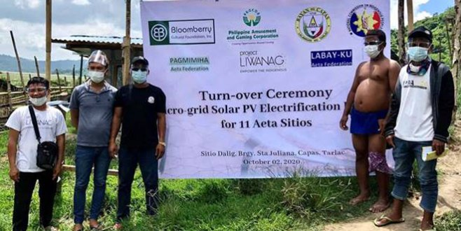 Bloomberry Foundation, PAGCOR turn over Communal Micro-Grid Solar Facilities to 11 Aeta mountain communities in Capas, Tarlac