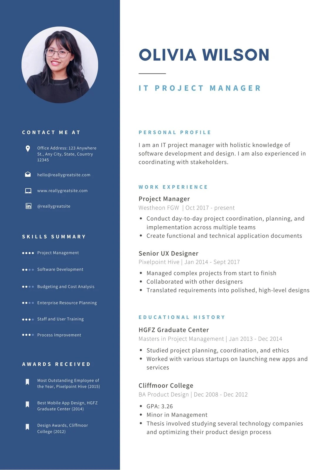 A blank page can be a daunting way to start so we've come up with these simple, professional templates to get you on your way. Free Professional Resume Templates To Customize Canva