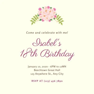 free printable 18th birthday